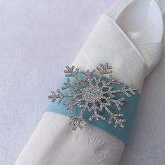 Winter Wonderland Napkin Rings  Set of 12  by DecorateYourBigDay