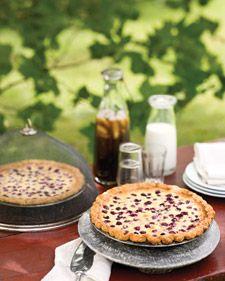 Fresh, ripe raspberries nestled in a custard pie may be the ultimate summer dessert.