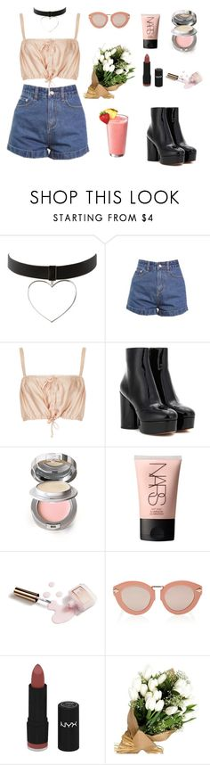 """""""ARYA"""" by twyzter ❤ liked on Polyvore featuring Topshop, Marc Jacobs, La Prairie, NARS Cosmetics, Ciaté, Karen Walker and NYX"""