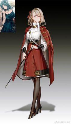 images like anime girl fantasy Cool Anime Girl, Beautiful Anime Girl, Anime Art Girl, Manga Girl, Anime Uniform, Female Character Design, Character Art, Anime Krieger, Kleidung Design