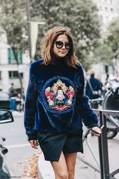 ❤ #street #fashion #snap by Christine Centenera from Milan Fashion Week.                                                                                                                                                     More