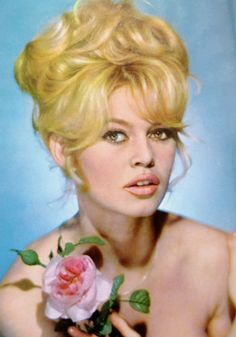 Bridget Bardot in the 60's hairstyle