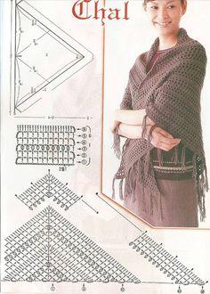 No hay nada que me guste más que tejer un chal de ganchillo, me resulta super relajante.     Me puse a buscar patrones y encontraba muchos ...