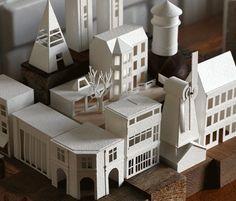 Artista criou uma cidade de papel em 365 dias