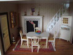 Vintage Lundby SWEDEN Dollhouse Completely Furnished Mid Century Modern 2 Story | eBay