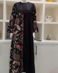 FloryDay / New Year Sale Casual Floral Tunic Round Neckline Shift Dress Batik Fashion, Abaya Fashion, Muslim Fashion, Fashion Dresses, Model Dress Batik, Batik Dress, Batik Muslim, Abaya Mode, Hijab Stile