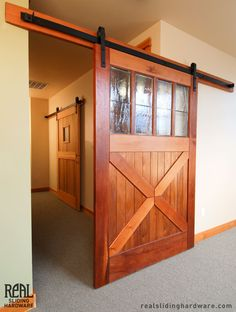 Real Sliding Hardware - Custom Barn Doors, Call us for custom quote: 800-694-9577 (http://www.realslidinghardware.com/custom-barn-doors/)