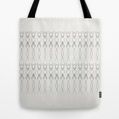 One line nude Tote Bag by Quibe - $22.00