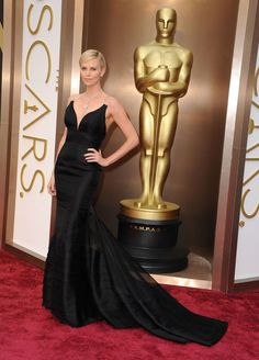 #CharlizeTheron ♥ on the #RedCarpet at the 86th Annual - @theoscars Awards - #Photography by #SteveGranitz | #Oscars