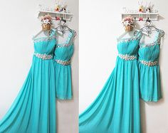 Prom dresses tiffany blue bridesmaid dress sexy blue evening long prom