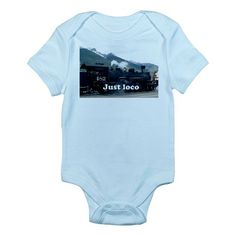 Just loco: steam train Colorado, USA 2 Onesie on CafePress.com