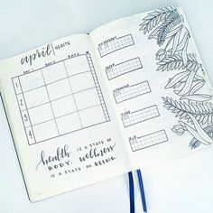 """Health is a state of body, wellness is a state of being"" . . . Comment below: how do you plan and track health/wellness/fitness in your journal?"