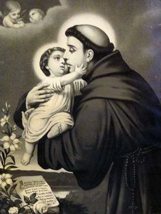 St Anthony of Padua | http://www.saintnook.com/saints/anthony-of-padua/ | File:Santoantonioeomeninojesus.jpg