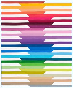 CASCADE QUILT This interactive PDF quilt pattern is designed using Robert Kaufman's Kona®  Cotton Solids 2O14 New…