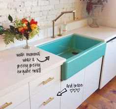 nspiring spaces + places - deep blue sea of a sink