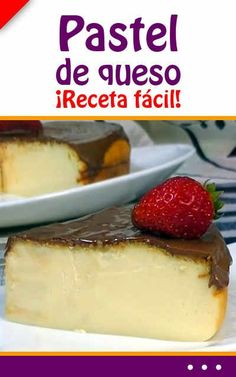 Pastel de queso. ¡Receta fácil! Cheesecake Pie, Flan, Food Truck, Cake Recipes, Deserts, Chips, Pudding, Baking, Cupcakes