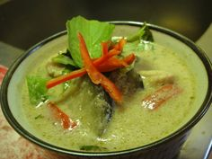 Vegetarian Thai Green Curry. Yummy