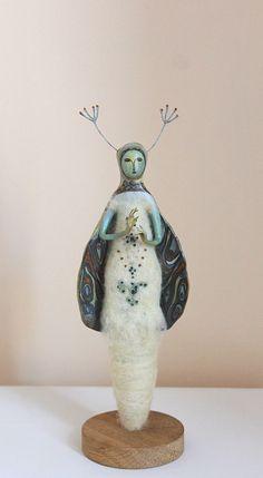 Moth OOAK art doll  Нandmade doll Art sculpture by JuliasArtStore