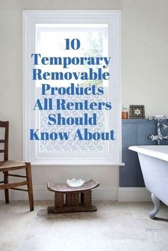 10 Temporary & Removable Adhesive Products All Renters Should Know About   Renters like nice things too! And, thankfully, each year more and more products emerge that are removable and won't jeopardize your security deposit when you move out. So, you can fix up your space temporarily and not sacrifice style. Here are ten rental-worthy products —all adhesive — to consider.