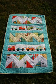 Baby Boy Quilt with Riley Blake Peak Hour