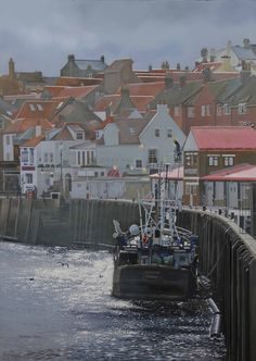 Defiant, Whitby by Graham Clark, Oils on board