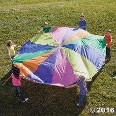 6.5Feet 8Handle Paracadute Colorate Gioco Giocattolo Bambini Suola Training