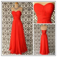 Long Evening Dress Aline Bridesmaid Dresses by dress1990 on Etsy, $129.00