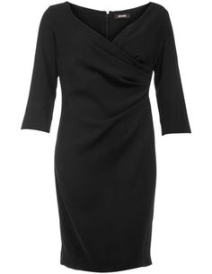 Evening dress with wrap neckline in Black designed by Persona to find in Category Dresses at navabi.de