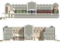 Neues Museum, Berlin Germany : Section through Courtyards : Section through East Wing   David Chipperfield Architects