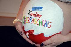 Body Painting Kinder sur son bidou!