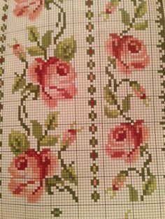 Cross Stitching, Cross Stitch Embroidery, Hand Embroidery, Cross Stitch Rose, Cross Stitch Flowers, Loom Beading, Beading Patterns, Dot Patterns, Cross Stitch Designs