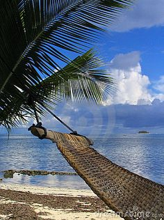 Hammock on tropical beach by Hugo Maes, via Dreamstime