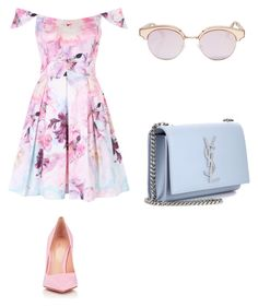 """contest colours this year"" by gigipintoribeiro on Polyvore featuring Gianvito Rossi, Le Specs and Yves Saint Laurent"