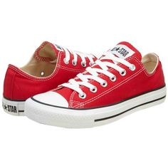 Converse Chuck Taylor All Star Shoes (M9696) Low Top in Red (52 CAD) found on Polyvore featuring women's fashion, shoes, sneakers, converse, sapatos, zapatillas, converse sneakers, star shoes, low top and converse trainers