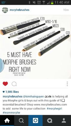 Must have brushes