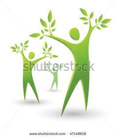 Logo logos with 3 trees logo com pre designed logos nature tree