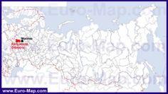 Калужская область на карте России
