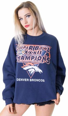 4aefc3316e429 Super BOWL XXXII Champions Denver Broncos celebration sweatshirt. In  perfect condition and ready for Friday