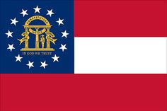 State of Georgia Flag. 3 x 5 feet in size. Made of quality Nylon this Georgia flag is ideal for outdoor or indoor display and will last you for years. Us States Flags, U.s. States, Georgia Usa, Georgia On My Mind, Flags Of The World, Countries Of The World, Country Maps, In God We Trust, Usa