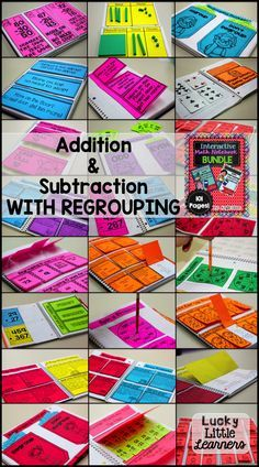 This interactive math notebook features addition and subtraction with regrouping.  It's perfect for 2nd and 3rd graders.  It includes over 100 pages of quality interactive activities that will provide opportunities for differentiation.  This product also includes photos of each activity for easy assembly.