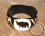 African Bone Bangle - Elephant African Jewelry, Handcrafted Jewelry, Jewelry Crafts, Bones, Elephant, Bracelets, Leather, Handmade Chain Jewelry, Handmade Jewelry