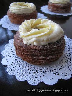 Homemade Chocolate CroNut | http://kristygourmet.blogspot.ca/2013/07/homemade-cronut.html