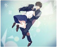 Chitanda and Oreki Anime Couples Drawings, Cute Anime Couples, Diabolik Lovers Ayato, Manga Anime, Anime Art, Kyoto Animation, Hyouka, Spiderman Art, Otaku