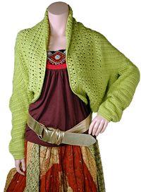 Free crochet shrug pattern. Super cute!
