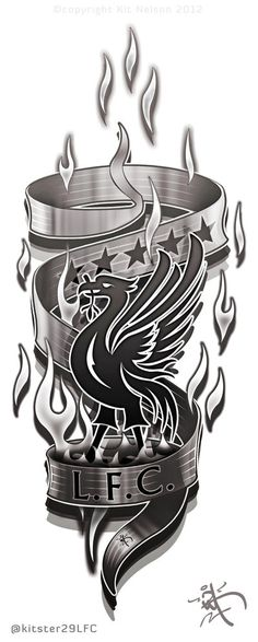 Liverpool FC Arm/leg Tattoo design concept by kitster29.deviantart.com