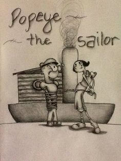 Popeye and olive Classic Cartoon Characters, Classic Cartoons, Popeye And Olive, Friends, Kite, Amigos, Boyfriends