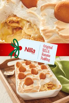 The classic is back for the holidays. Find this delicious #NabiscoHolidayRecipe for Banana Pudding with NILLA Wafers and get celebrating with your loved ones www.snackworks.com Not Yo Mamas Banana Pudding Recipe, Nilla Wafer Banana Pudding, Banana Pudding Desserts, Banana Recipes, Banana Cheesecake, Cheesecake Bars, Original Banana Pudding Recipe, Nilla Wafer Recipes, Vanilla Pudding Recipes