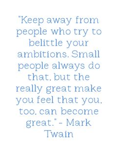 Well, not all small people do that, Mark...