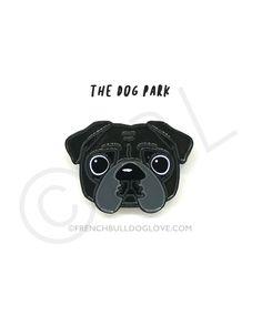 Pug Enamel Pin - Black Pu #pug Enamel Pin - Black Pug
