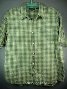 Timberland Mens Shirt Casual Cotton Plaid Green XXXL 3XL #Timberland #ButtonFront